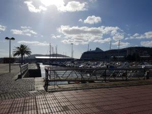 Der Hafen von Ferrol, Spanien.