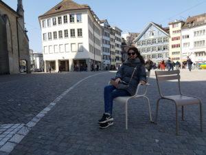 Die Sitzgelegenheiten auf dem Münsterhof sind fantastisch!