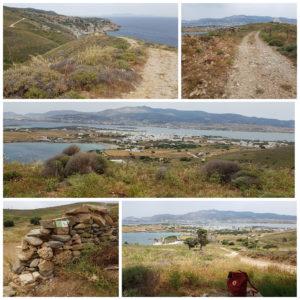 Schöne Aussichten auf der Route 1A, Antiparos