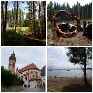 ...über Kloster Andechs (links unten) bis Herrsching am Ammersee (rechts unten).