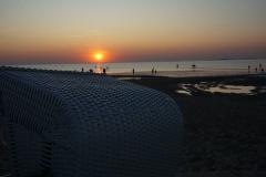 Sonnenuntergang in Cuxhaven Sahlenburg