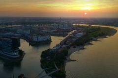 Abendstimmung vom Rheinturm aus
